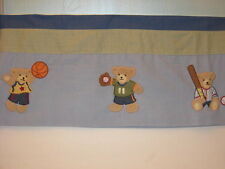 Kidsline Go Team Valance Appliques Sports Bears Blue Green 58""