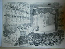 Gravure 19° Fêtes du mariage de la princesse royale d'Angleterre 1858
