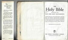 Holy bible old & new testaments self pronouncing world publishing, well loved!