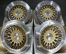 "17"" GOLD VINTAGE ALLOY WHEELS FITS FORD ESCORT FIESTA MONDEO FUSION COUGAR 4X108"