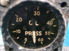 1950s raf oil psi gauge good condition