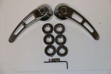 """Chrome Billet Aluminum 4 1/4"""" Door Handle Kit Hot Rod Kustom Chevy Ford Chrysler"""