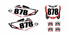 2014 2015 2016 HONDA CRF 250R CUSTOM NUMBER PLATE BACKGROUND​ GRAPHICS