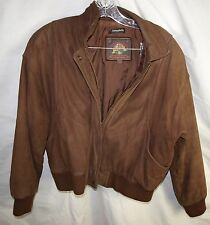 VTG Wilsons Adventure Brown Leather Bomber Motorcycle Jacket Thinsulate Men's M