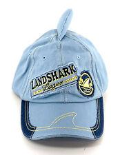 NEW Margaritaville Landshark Lager One Size Fits All Light Blue Shark Fin Hat