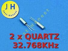 Stk.2 x Quarz / Quartz 32.768 kHz 3x8mm MCU, RTC, Clock, Uhr  #A261