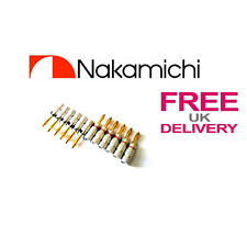 12x Quality Nakamichi Speaker banana plug 24k Gold plated connector **UK**