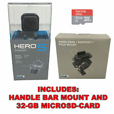 GoPro Hero5 Session 4K HD, Wi-Fi Waterproof Camera 32GB SD + Handle Bar Mount