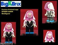 SPIDER-GWEN Cloth Hood Marvel Custom Printed LEGO Minifigure NO DECALS USED!