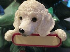 POODLE ~ WHITE  PUPPY ~ ORNAMENT  # 28A