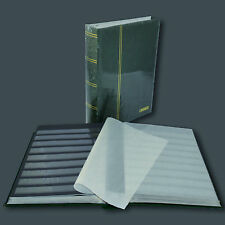 Lindner einsteckbuch de sellos álbum elegante 60 páginas negras en verde