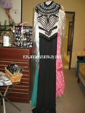 Angela and Alison 51027 Black Stunning Pageant Gala Gown Dress sz 0