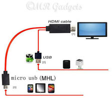 11pin MHL MICRO USB a HDMI 1080p HDTV CABLE PARA SAMSUNG NOTE 2 3 4 Galaxy S5