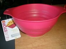 good cook NEAT STOR Hot Pink Collapsable Mixing/Serving Bowl