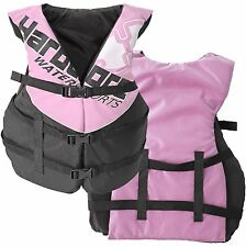Women's Deluxe Pink Adult Life Jacket PFD Type III Coast Guard Ski Vest Ladies
