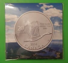 2014 Canada $20 Fine Silver Coin - Goose Mint Sealed Package