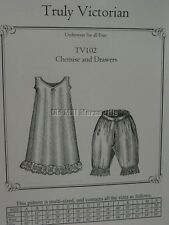 Old West Victorian Style Chemise and Drawers sewing pattern TV102 ~NEW~