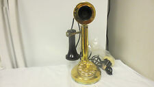 1978 Fold-a-Phone Japan Candlestick Rotary Dial Desk Telephone-Gold Black Color
