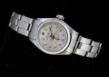 Rolex Ladies Oyster Perpetual Stainless Steel Diamond Dial Luxury Automatic