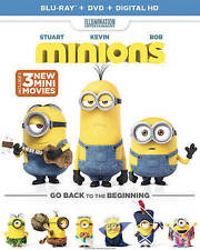 Minions (Blu-ray Disc/DVD, 2015, 2-Disc Set) w/Digital HD  Animated   Brand NEW