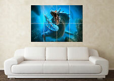 Large Sea Dragon Fantasy Myth Gothic Magic Fire Wall Poster Art Picture Print
