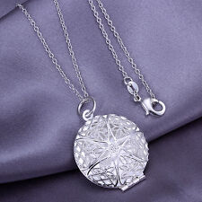 wholesale sterling solid silver chains photo frame pendant necklace XUSP167