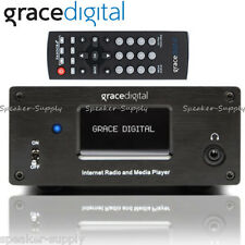Grace Digital Stereo Internet Receiver Bookshelf AM FM HD Radio WiFi GDI-IRMSAMP