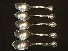 SET OF 5 GORHAM CHANTILLY STERLING SILVER DESSERT/OVAL SOUP SPOONS NO MONO 7""