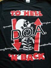 DOA To Hell n Back T-Shirt Size XL.New,Punk,Rock,Hardcore,Dead Kennedys,MDC.Nofx