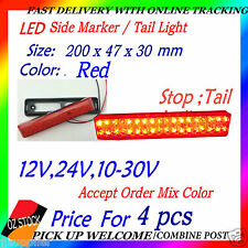 4 pcs LED Tail Light Trailer Caravan Truck UTE Camper Stop Tail LED Side Marker