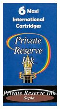 6 Sepia Private Reserve Ink Maxi International Cartridges / #CL46
