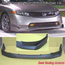 Mu-gen Si Style Front Lip (Urethane) Fits 06-08 Honda Civic 4dr