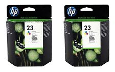 2x HP 23 Tri-Color Ink Cartridge C1823D Genuine New