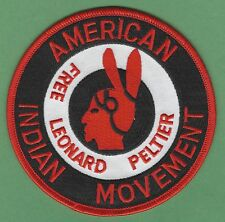 AIM AMERICAN INDIAN MOVEMENT FREE LEONARD PELTIER PATCH