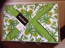 LADYBUG Vera Neumann Placemat Napkin Set 8 RETRO MOD LIME GREEN FERN PLANT NOS