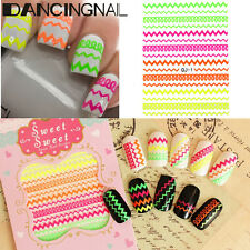 3D Colorful Nail Art Tips DIY Stickers Decal Wraps Acrylic Manicure Decoration