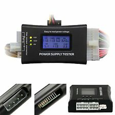 LCD PC Computer 20/24 Pin 4 PSU ATX BTX ITX SATA HDD Power Supply Tester SY