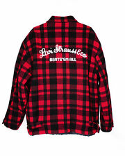 LEVI'S men's Vintage Lumberjack Style Plaid Jacket, Made in Italy,  SIZE L