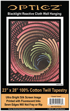 COSMIC TUNNEL - BLACKLIGHT FABRIC POSTER - 23x28 WALL HANGING TAPESTRY BLF22