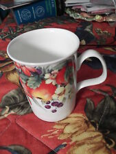 Roy Kirkham Summer Fruits  Mug/ Fine Bone China/England/Plum/Strawberry/floral