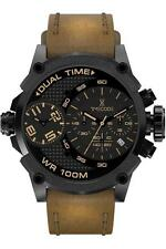 Timecode Chronograph Men's Watch TC-1002-05 with Brown Leather Strap