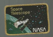 SPACE TELESCOPE SPACE GOLD BORDER   PATCH  4  INCHES
