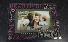 MUM PHOTO FRAME MIRROR GLASS FRAME & 3D MUM PERFECT MOTHER'S DAY GIFT