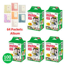 100 Prints Fujifilm Instax Mini Instant Film For Fuji 8 25 7S 90 SP1 Photo Album