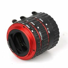Red Metal AF Auto Focus Macro Extension Tube/Ring for CANON EOS EF-S 5D 5D2 Lens