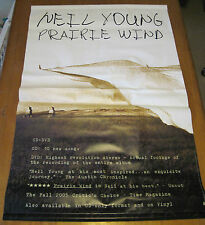 "NEIL YOUNG Prairie Wind Vinyl Promo Poster 24"" X 36"""