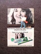 K769- Advertising Pubblicità -1981- DENTIFRICIO AZ VERDE DI PIERREL