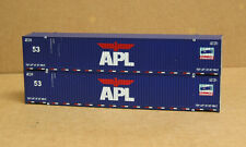 2 Walthers #8511, new container, 53' Singamas, APL