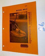 Woods Model M40-1 Mower Operators Manual