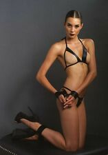 Leg Avenue Kink Wet Look Bondage Lingerie Set BDSM Fetish UK